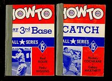 1941 How To Play Baseball Series Books 4 Different