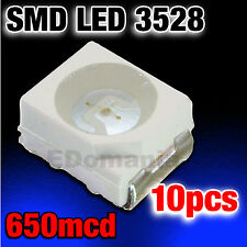 171/10# LED Bleu CMS 3528 PLCC-2 SMD Blue  10pcs   ----->650mcd  - TL
