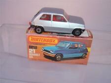 MATCHBOX LESNEY SUPERFAST NO21C RENAULT 5TL AND ITS ORIGINAL BOX SEE THE PHOTOS