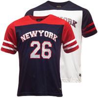 Brave Soul V Neck T Shirt Small Thin Mesh 'New York' S M L XL