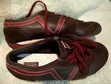 """Nice **VANS**  """"DABNEY""""  Women's Brown/Wine SUEDE LEATHER~Lace Up Sneaker~ 5M"""