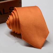 2017 Hot Men/'s Orange Paisley Tie Neckties Handkerchief Pocket Square Set T009