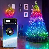 LED Christmas Tree Decoration Fairy String Lights Bluetooth App Remote Control