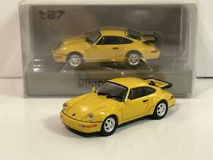 Minichamps 870069102 Porsche 911 Turbo 964 1990 Amarillo 1:87 Escala