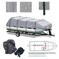 Delexe Trailerable Pontoon boat cover Grey Fits 21/' 22/' 23/' 24/' L
