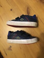 La Coste Trainers Toddler Kids Baby Shoes Size 4 Navy Blue Good Condition