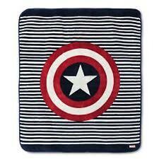 Avengers Captain America Plush Throw Blanket Marvel Comics Shield Logo 50x60 NEW