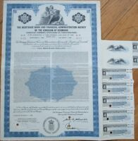 Kingdom of Denmark, Mortgage Bank & Financial Admin Agency 1968 Bond Certificate