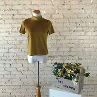 Madewell Women's Yellow Velvet Top SIZE XS