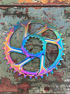 Rainbow Oil Slick Chainring SRAM Eagle XX1 36t 12 Speed 6mm GXP Direct Mount
