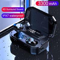 Bluetooth 5.0 Wireless Headset TWS Earphones Mini Earbuds Stereo Headphones IPX7