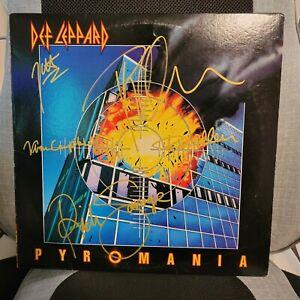 DEF LEPPARD signed album PYROMANIA - 5 ARTISTS