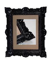 Schwarz Bilderrahmen Fotorahmen Bild Foto Rahmen mit Glas Barock Antik 30*40 Neu
