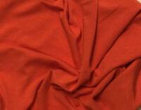 Bamboo Cotton Lycra Jersey Knit Fabric Eco-Friendly 4ways spandex - Paprika