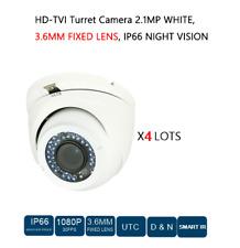 4 LOTS HD-TVI TURRET CAMERA 2.1MP, 3.6MM FIXED LENS, CCTV SECURITY Surveillance
