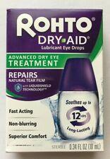 Rohto Dry Aid Eye Drops Advanced Dry Eye Treatment 0.34 Fl Oz Exp 01/2021