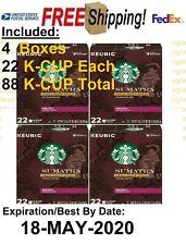 Starbucks Sumatra Dark Roast 88 K-CUP Coffee Keurig EXP 18 MAY 2020