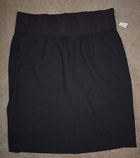 New Gap Maternity Sz 8 Skirt Straight Pencil Charcoal Gray Stretch Belly Panel