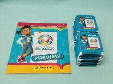 Panini Euro EM 2020 Preview Sammelalbum +  200 Tüten / 1000 Sticker