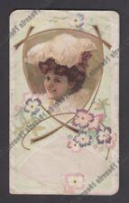 CALENDARIETTO 1907 DONNE - TEATRO - THEATER - DRAMMA old pocket calendar