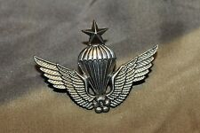 Original Vintage R.O.K. Republic of Korea Army Master Paratrooper Wings, Marked