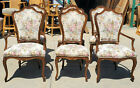 1990's Karges Classic Louis XV Style Hand-crafted Walnut Dining Chairs Set of 6