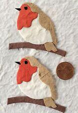 6 Robins robin Diecut Birds mulberry paper Spring Scrapbooking birding cards