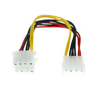 2X 4 Pin Male to 2 port IDE Female Power Supply Splitter Adapter Cable 18cm PICT