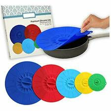 """New listing Silicone Suction Lids -Food Grade Bowl Saver Covers Diameter 3.5"""" 5.5"""" 7.5"""" 10"""""""