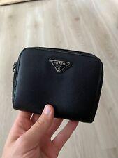 Prada Saffiano Black Leather Large Wallet Purse Cardholder
