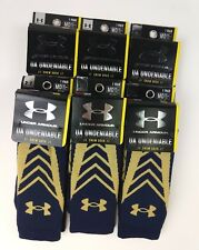 Lot of 6 pairs - Under Armour Navy Blue Performance Socks Men's M/Medium NEW