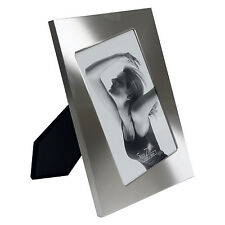 5 x 7 Angled Photo Design Brushed Silver Picture Frame (2686DMS)