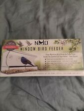 Nature's Hangout Window Bird Feeder Clear Acrylic Attaches To Window