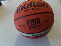 Molten GR7 Basketball Size 7 Mens Tan Outdoor Rubber Basket Ball Sent Inflated