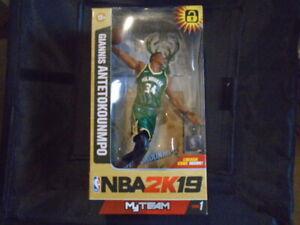 GIANNIS ANTETOKOUNMPO #34 MILWAUKEE BUCKS NBA MVP CHAMPS MCFARLANE TOYS 12+