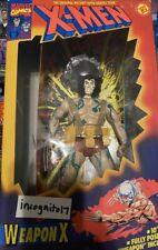 "Vintage Marvel Weapon X Wolverine 10"" Deluxe Action Figure Toy Biz 1994 X Men"