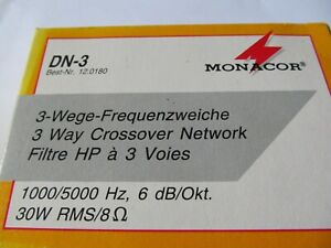 CLEARANCE. MONACOR 3 WAY CROSSOVER NETWORK 1000/5000Hz, 30W RMS @ 8ohm BRAND NEW