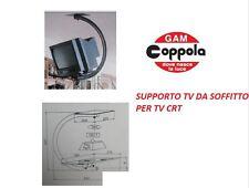 """SUPPORTO STAFFA TV MONITOR SOFFITTO PER TV CRT DA 17"""" A 21"""" MAX 40 KG MADE ITALY"""