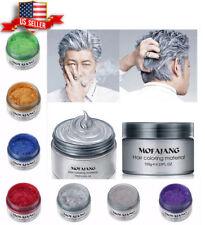 Unisex DIY Hair Color Wax Mud Dye Cream Temporary Modeling White Color Mofajang