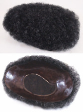 """ADULT PREMIUM MEN'S MALE NATURAL AFRO TIGHT CURLS CURLY WIG TOUPEE 6"""" X 8"""" BASE"""