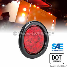OLS 4 Inch Round Red LED Turn Stop Brake Trailer Tail Light for Jeep Truck RV