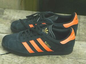 ADIDAS ORIGINALS Gazelle - Black & Orange Size 7.5