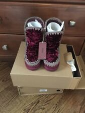 MOU Boots - Eskimo Sheepskin Winterboot - Red - Size 7