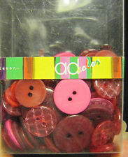 AD Accent Decor Red Button Assortment approx. 100 pieces