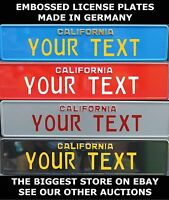 California Retro Euro European License Plate Number Plate Alu Custom Two Lines