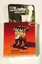 "Vintage PENN PLAX ""LOK-TITE"" BRASS 3 1/2 Gang Valve Original Box NOS Mint Unused"