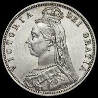 1887 Queen Victoria Jubilee Head Silver Half Crown, G/EF #5