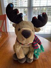 Singing/Talking Holiday Christmas Moose - We Wish You A Merry Chrismoose Euc