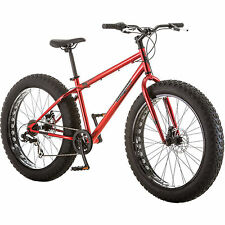 """NEW 26"""" Mongoose Hitch Fat Tire Men's 7-speed Mountain Bike Bicycle Red"""