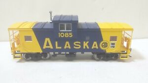 Alaska Railroad Wide Vision Caboose 1085 Atlas Ready to Roll HO Scale